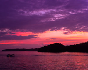 能登島の夜明け